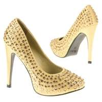 Damen High Heels - gold²