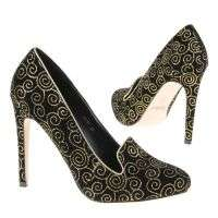 Damen High Heels - blackgold