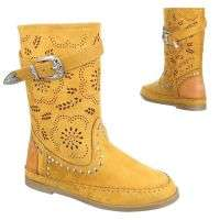 Damen Stiefel - yellow