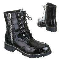 Damen Boots - blacksilver²