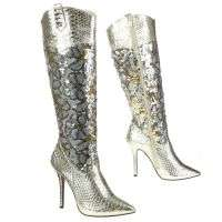 Damen Stiefel - gold