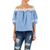 Damen Bluse von Shk Mode Gr. one size - blue