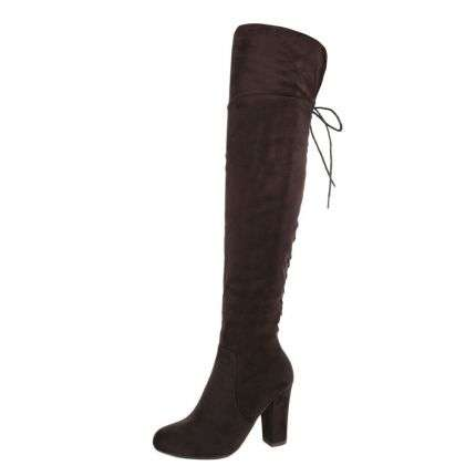 Damen Overknee Stiefel - brown