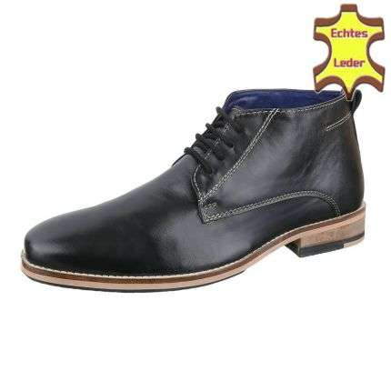 Leder Herren Businessschuhe von COOLWALK - black