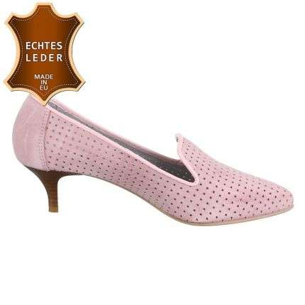 Damen Leder Pumps - pink