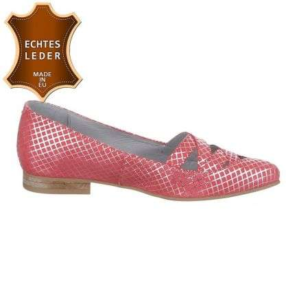 Damen Leder Pumps - coral