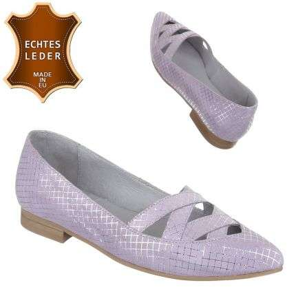Damen Leder Pumps - lavanda