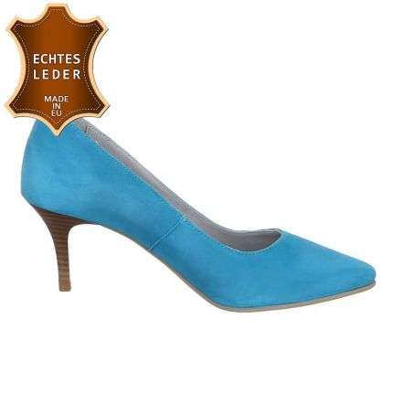 Damen Leder Pumps - turquese