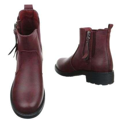 Damen Stiefeletten - winered