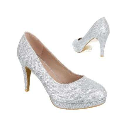 XXL Damen Pumps - silver