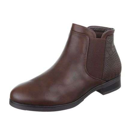 Damen Stiefeletten - darkbrown