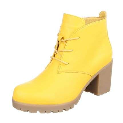 Damen Stiefeletten - yellow