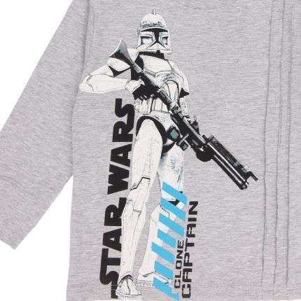 Kinder Langarmshirt von Star Wars - L.grey