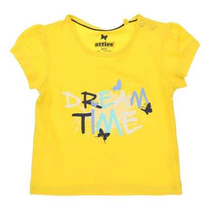 Kinder Shorts/Shirt - yellow