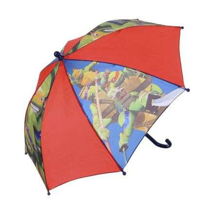 Kinder Regenschirm von Turtles Gr. one size - red