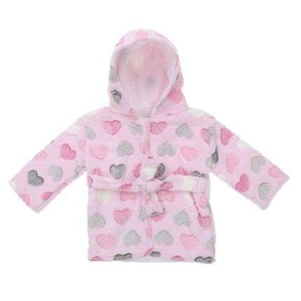 Kinder Bademantel Gr. one size - rose