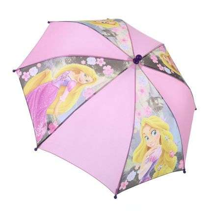 Kinder Regenschirm von Disney Princess Gr. one size - rose
