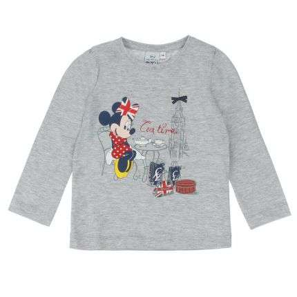Kinder Langarmshirt von Disney Minnie Mouse - grey