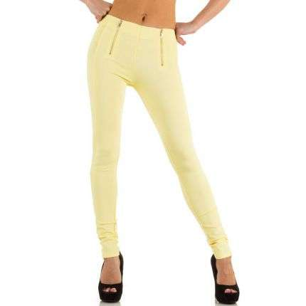 Damen Hose von Jcl - yellow