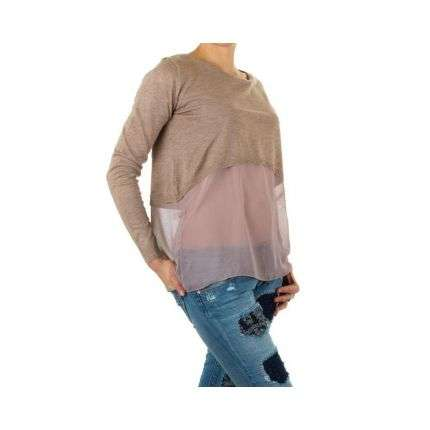 Damen Pullover Gr. one size - taupe