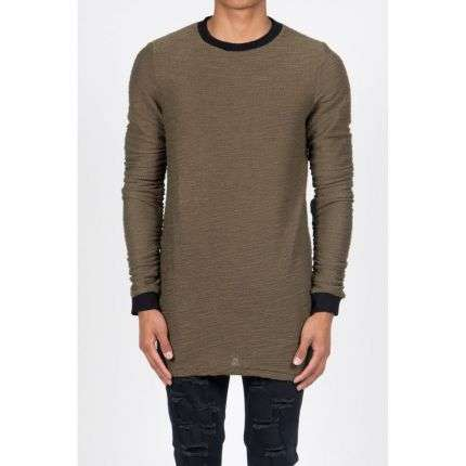 Herren Sweatshirt von Sixth June  - kaki