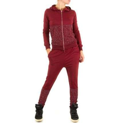 Damen Overall von Emma&Ashley Design - winered
