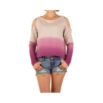 Damen Pullover von Sublevel - darkrose²