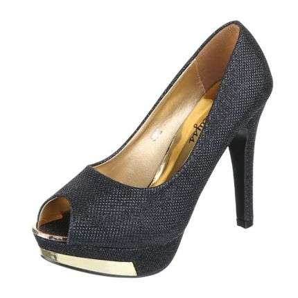 Damen Peep Toe - black