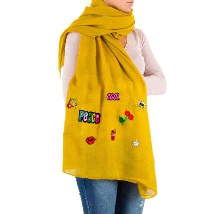 Damen Schal von Best Fashion Gr. one size - yellow