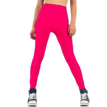 Damen Leggings von Best Fashion Gr. one size - neonpink