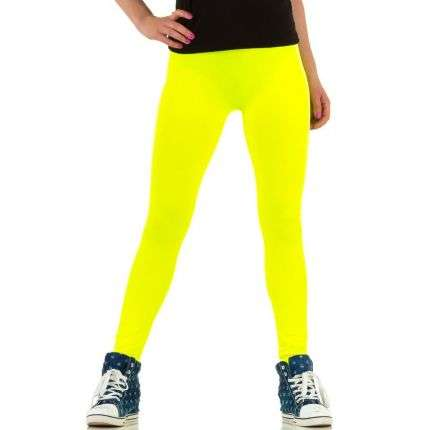 Damen Leggings von Best Fashion Gr. one size - neonyellow