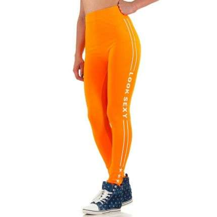 Damen Leggings von Best Fashion Gr. one size - orange