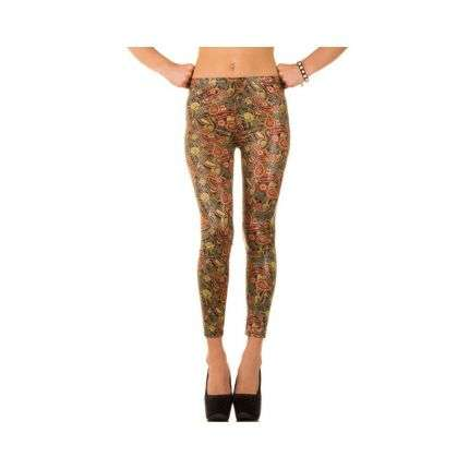 Damen Leggings Gr. one size - green²