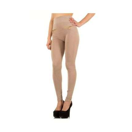 Damen Leggings von Best Fashion Gr. one size - beige