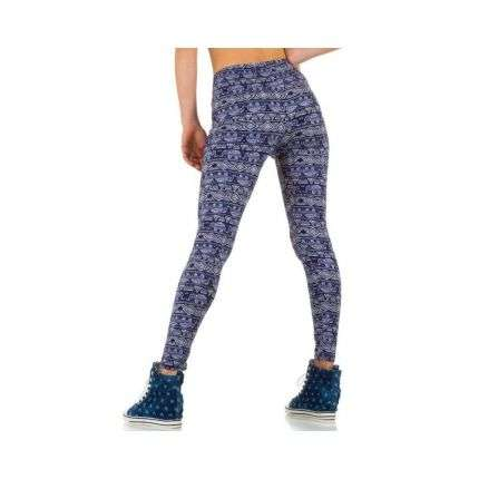 Damen Leggings von Best Fashion Gr. one size - blue