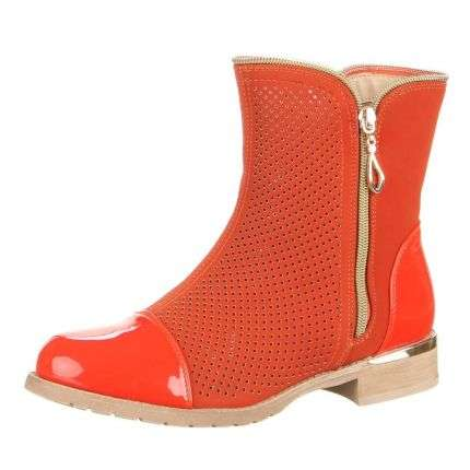 Damen Stiefeletten - orange
