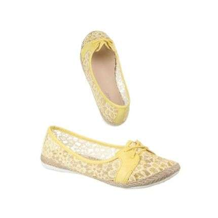 Damen Ballerinas - yellow