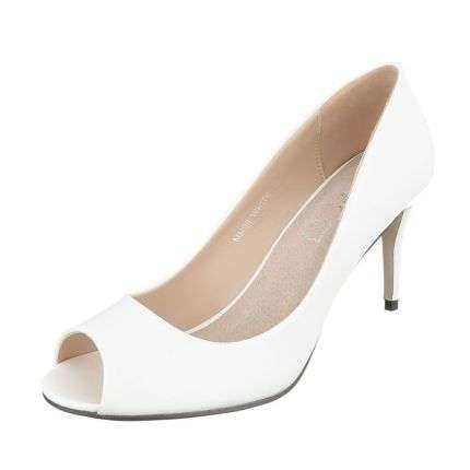 Damen Peep Toe - white