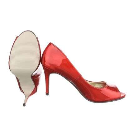 Damen Peep Toe - red