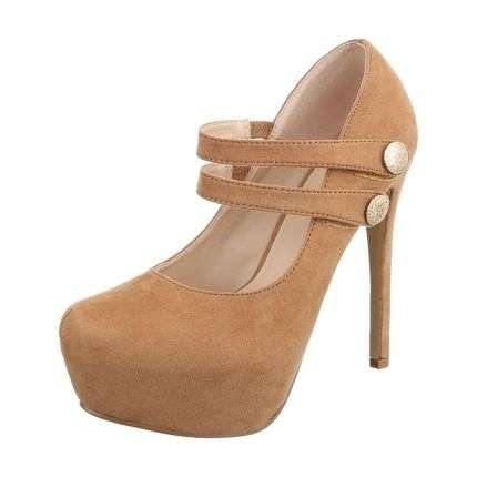 Damen High Heels - camel
