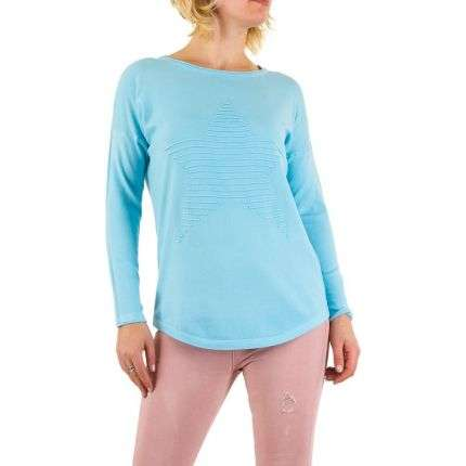 Damen Pullover Gr. one size - blue