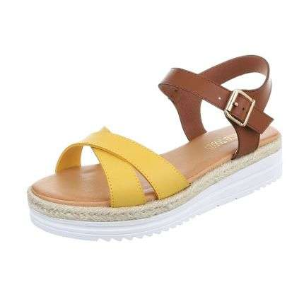 Damen Sandalen - yellow