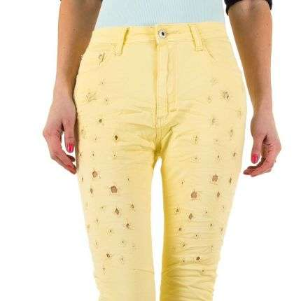 Damen Jeans von Place Du Jour  - yellow