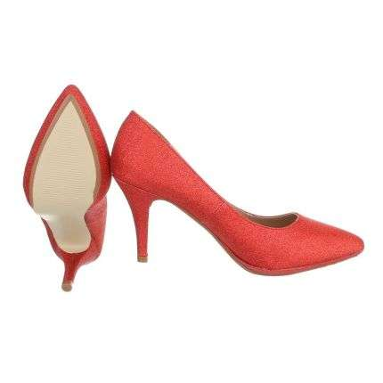 Damen High Heels - red