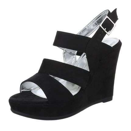 Damen Plateau - black