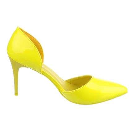 Damen High Heels - yellow