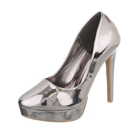 Damen High Heels Pumps - pewter