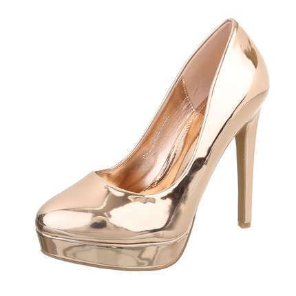 Damen High Heels Pumps - rosegold