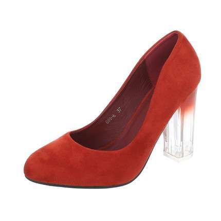 Damen High Heels Pumps - firebrick