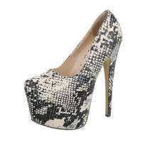 Damen High Heels Pumps - snake